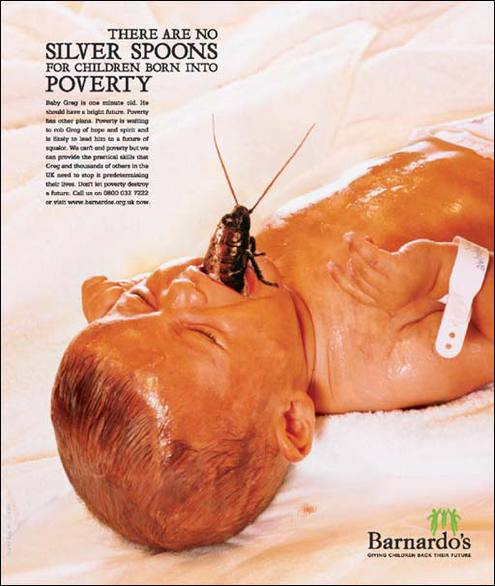 compare the advertising campaigns for benetton and barnardos essay