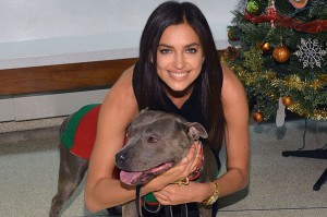 Irina Shayk Spreads Holiday Cheer  With The ASPCA